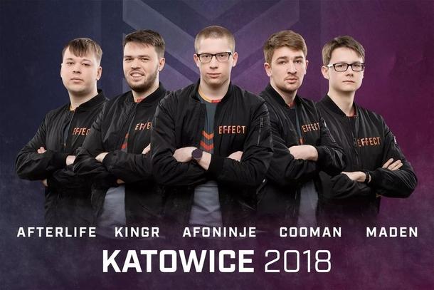 Состав Effect на Katowice 2018