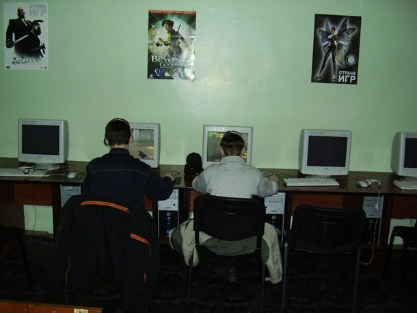 Computer Clubs in the 2000s   Photo: fishki.net