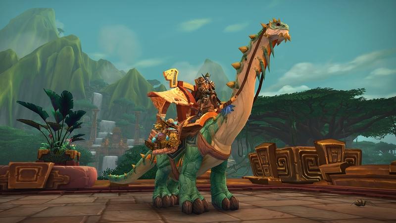 «Могучий вьючный брутозавр» в WoW.