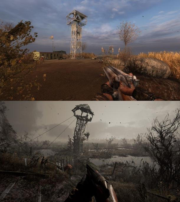Болота в «Чистом небе» и «Сердце Чернобыля»