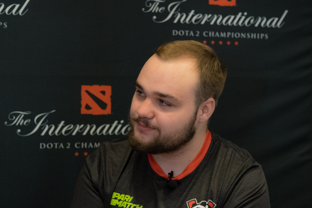 No[o]ne дает интервью на TI9 | Источник: Cybersport.ru