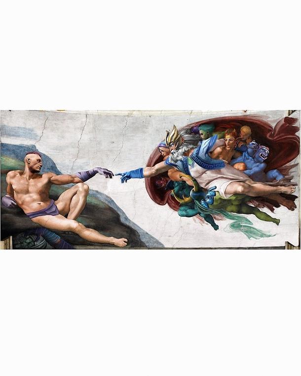 Кавер-версия на «Сотворение Адама»