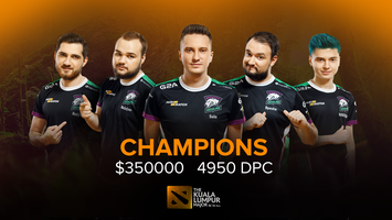 Virtus.pro is the champion of The Kuala Lumpur Major