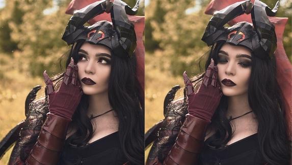 Люцифер в женском обличии — косплей на Doom