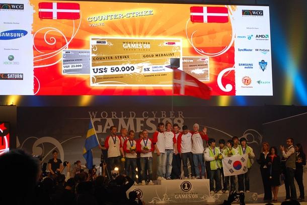 Пьедестал призёров WCS 2008 в CS 1.6.