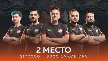 Virtus.pro занимает второе место на The Chongqing Major