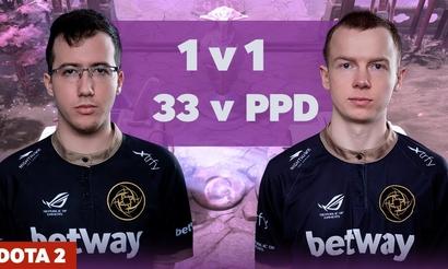 33 сыграл с ppd 1v1 на миде