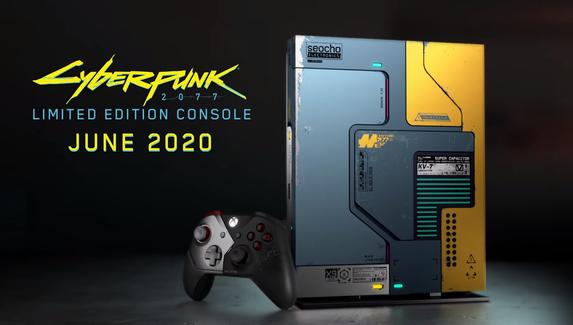 Microsoft представила консоль Xbox One X в стиле Cyberpunk 2077