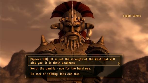 В Fallout: New Vegas можно было останавливать целые армии, ни разу не взявшись за оружие