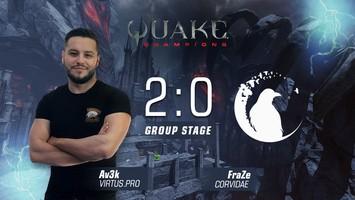Av3k won the first match on QuakeCon 2017
