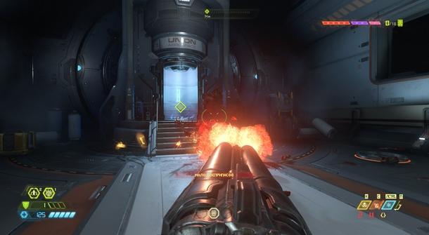 В Eternal предусмотрен режим с оружием по центру, как в оригинальной Doom