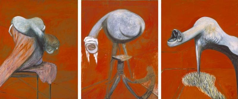 Фрэнсис Бэкон, «Три этюда к фигурам у подножия распятия»
