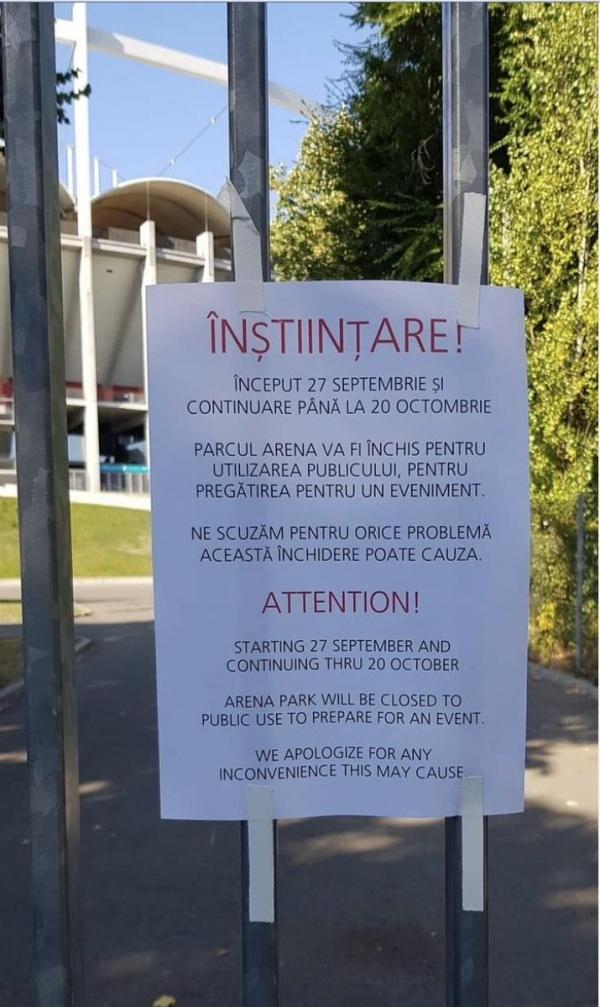 Начиная с 27 сентября и вплоть до 20 октября парк арены будет закрыт для общественного использования в целях подготовки к мероприятию. Извините за неудобства.