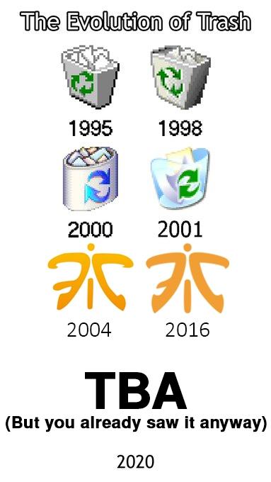 Эволюция мусора. Источник: @G2esports