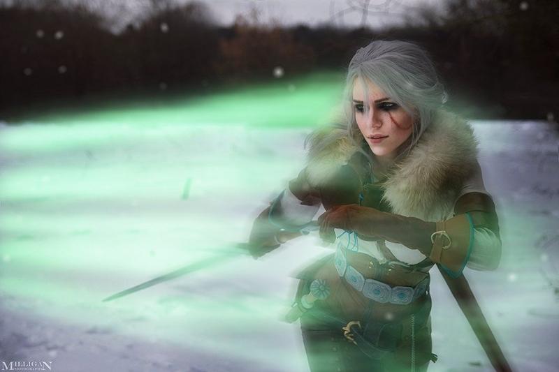 Косплей на Цири из The Witcher 3: Wild Hunt. Косплеер: Кристина Ривийская. Фотограф: Milligan. Источник: https://vk.com/kris_urban