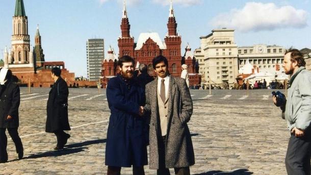 Алексей Пажитнов и Хэнк Роджерс на Красной площади