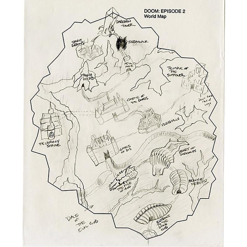 Общая карта одного из запланированных эпизодов Doom