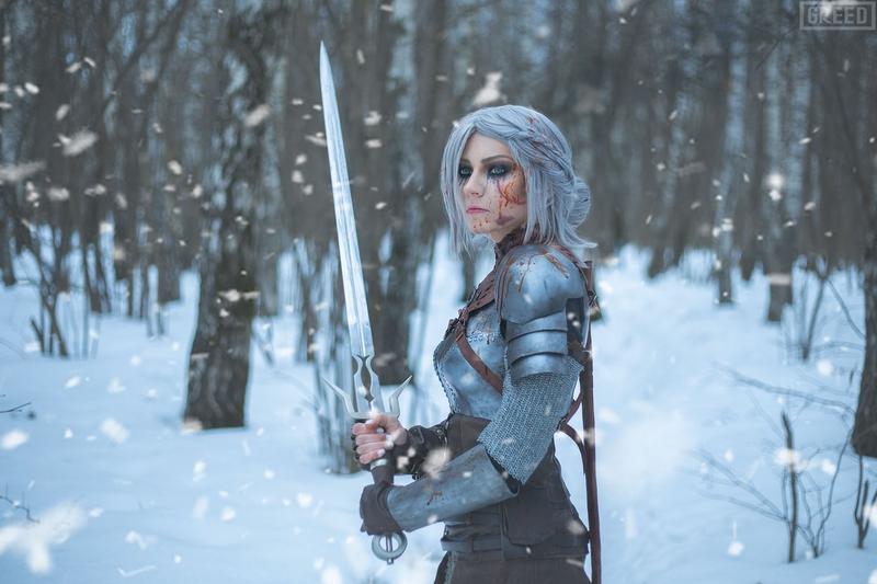 Косплей на Цири из The Witcher 3: Wild Hunt. Косплеер: Анна Сухорученко. Фотограф: GREED. Источник: https://vk.com/twenn.rogue