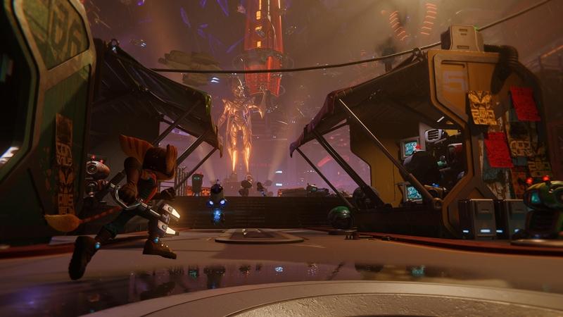 Рэтчет знакомится с измерением Императора Нефариуса в Ratchet and Clank: Rift Apart