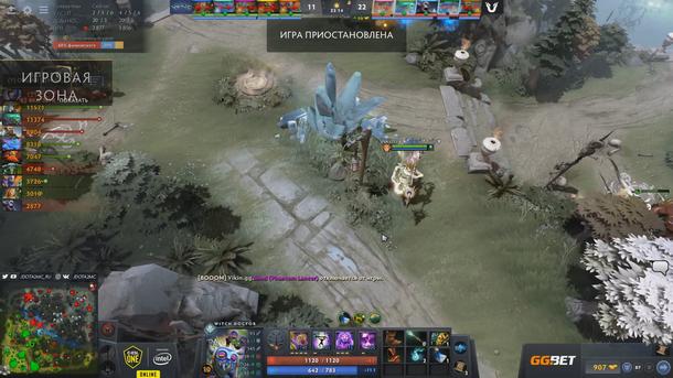 Ситуация на второй карте матча Unique — ViKin.gg перед техническим поражением