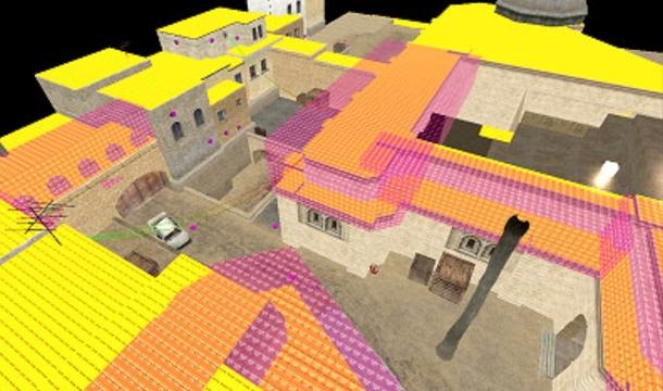 Карта de_dust_pcg в процессе разработки