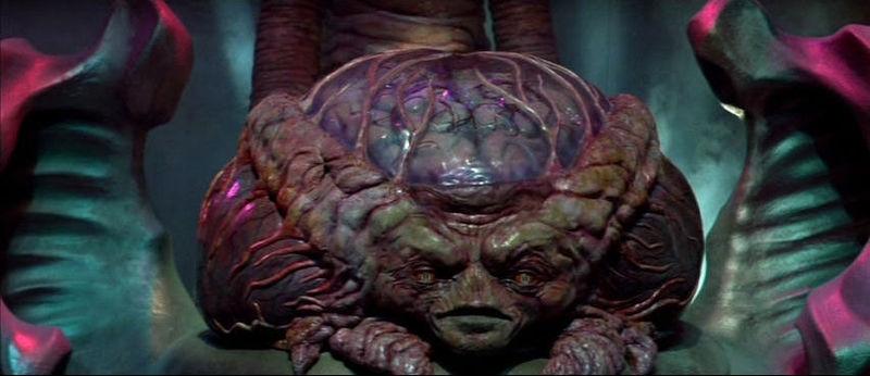 Монстр из фильма «Пришельцы с Марса», легший в основу Мастермайнда