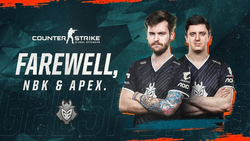 NBK and apEX released from G2 Esports