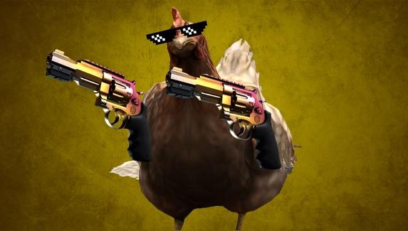 Курица помешала ropz засейвить оружие и стала мемом на reddit