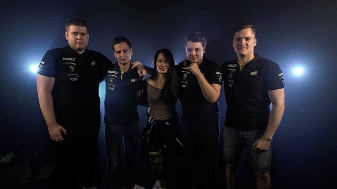 NaVi's new PUBG roster. Photo by: VK.com