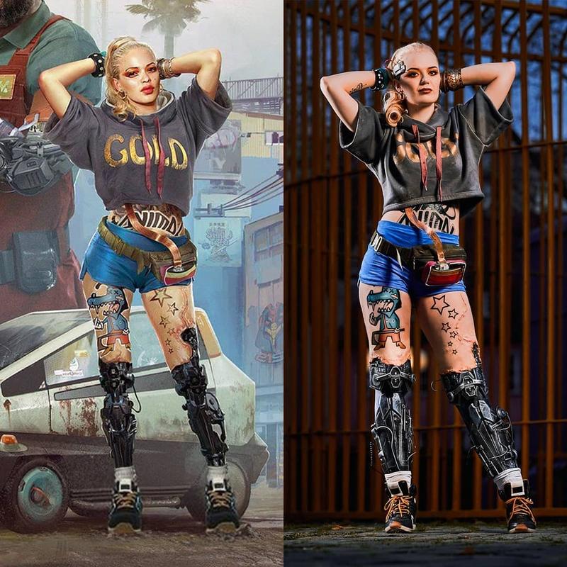 Косплей на Entropism из Cyberpunk 2077. Модель: Selina Engel. Источник: instagram.com/krystl_cosplay