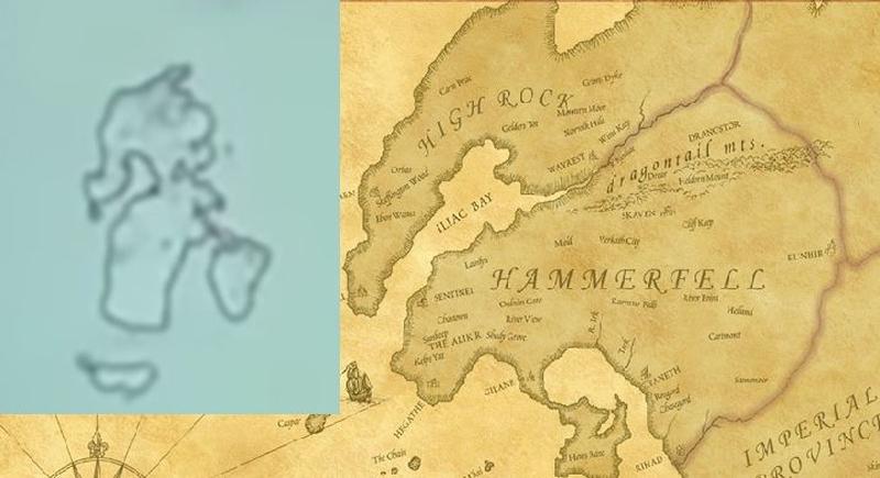 Сравнение с картой из The Elder Scrolls
