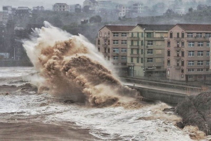 Тайфун « Лекима» в Китае   Источник: .express.co.uk