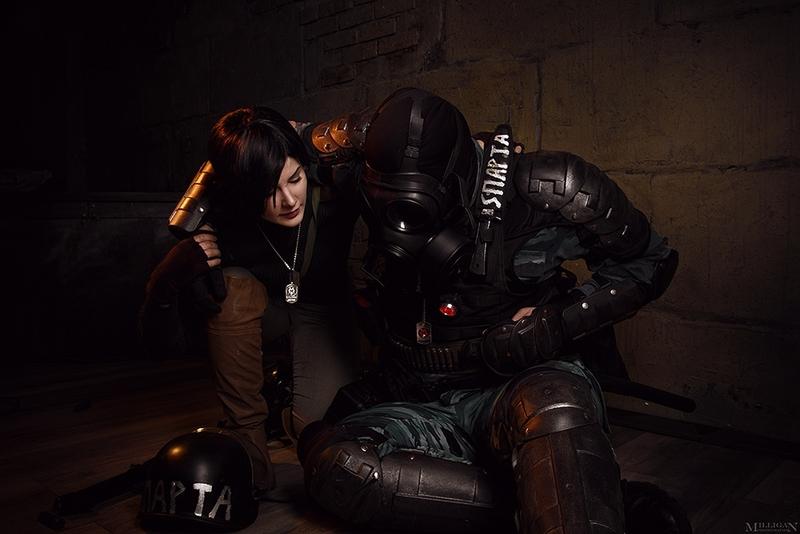 Косплей Анны и Артёма из Metro 2033