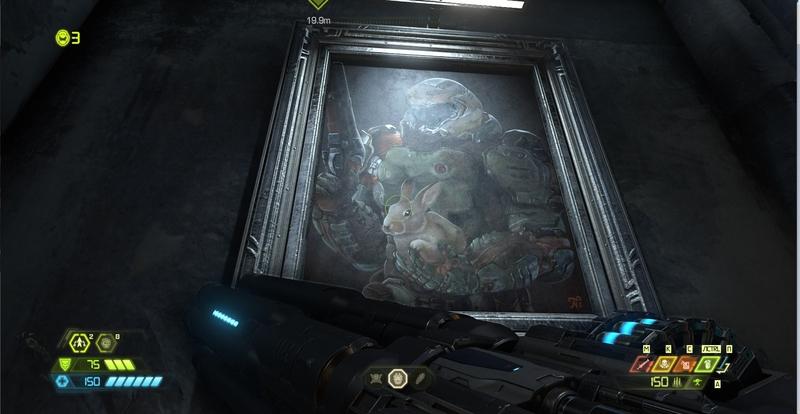 Кролик уже появлялся в серии Doom