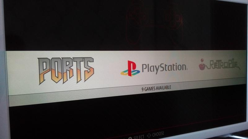 Ports (Quake 3, медиаплеер Kodi), PS1, RetroPie
