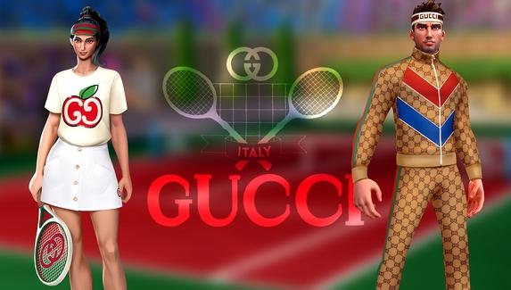 Спортивная форма от GUCCI — модный бренд стал партнером мобильного симулятора Tennis Clash