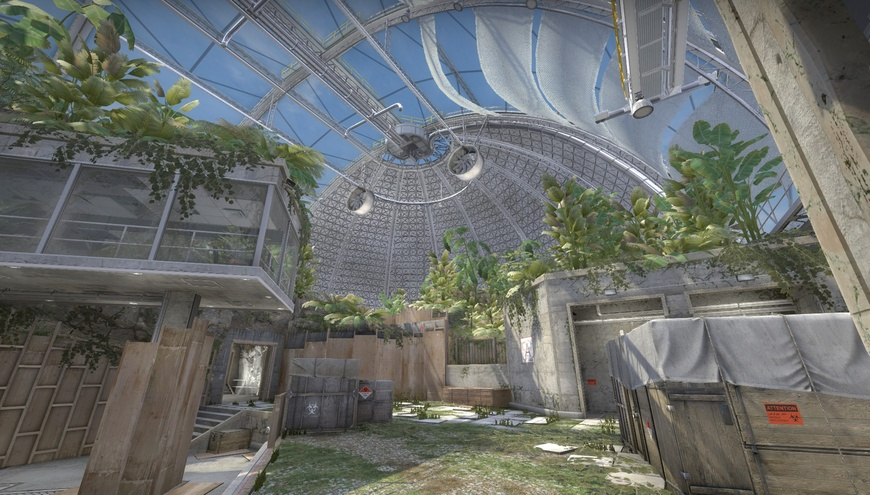 How to get on top of the dome in de_biome