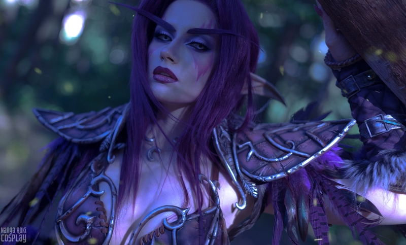 Косплей на ночного эльфа-друида из World of Warcraft. Косплеер: Narga. Фотограф: lina_fk. Источник: instagram.com/narga_lifestream/