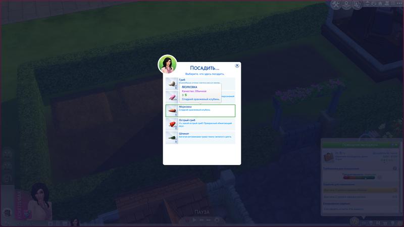Посадка семян   The Sims 4, «Загородная жизнь»