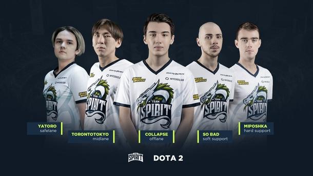 Новый состав Team Spirit по Dota 2 | Фото: Team Spirit