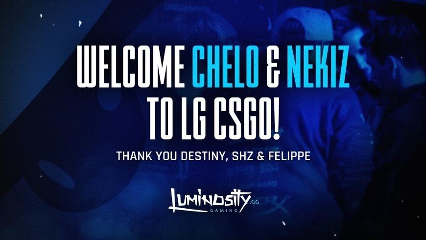 Chelo and NEKIZ sign with Luminosity