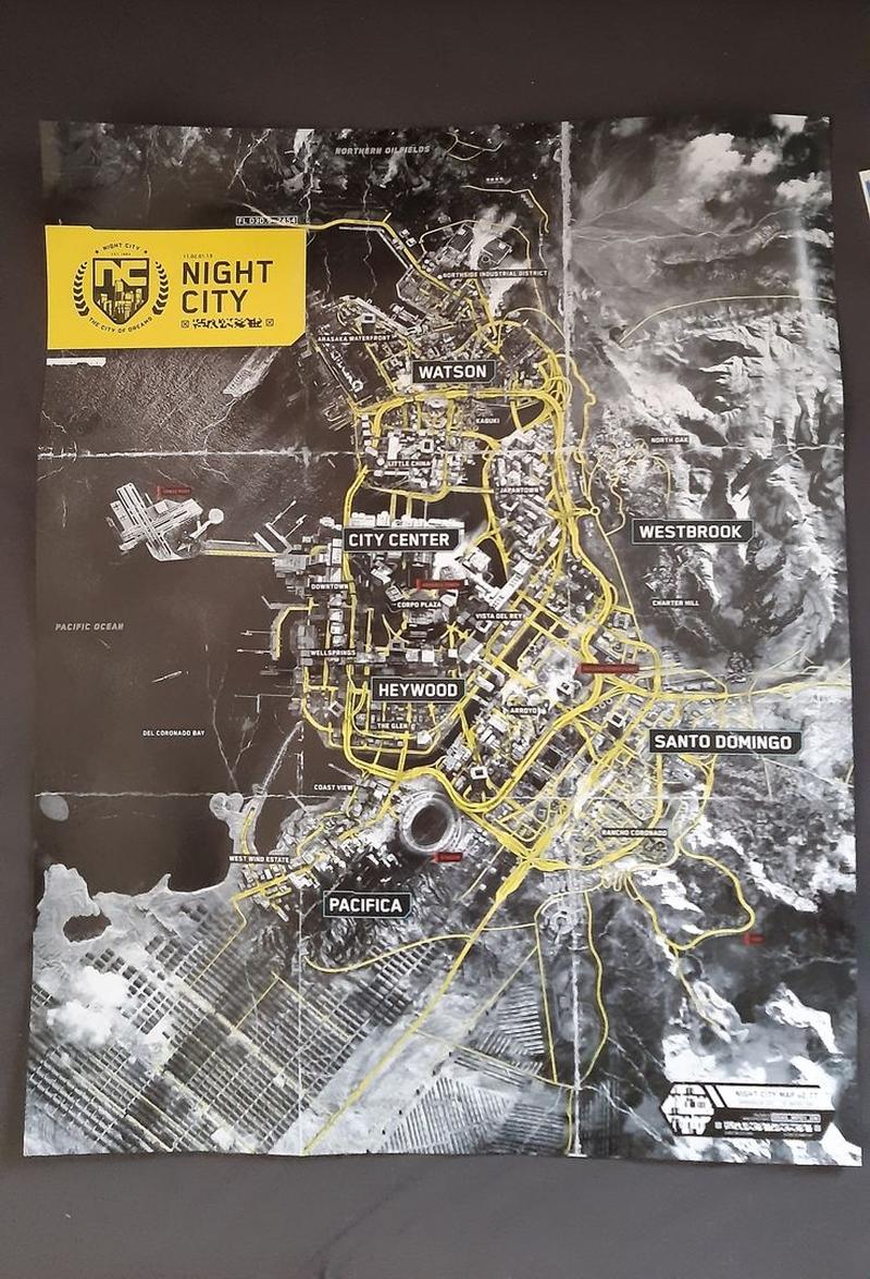 Карта Найт Сити. Источник: reddit