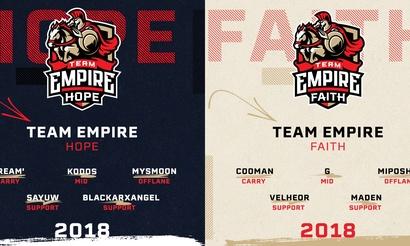 Два состава Team Empire. Всё на зеро?