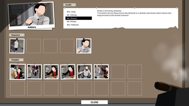 Расследования представлены в виде простой игры