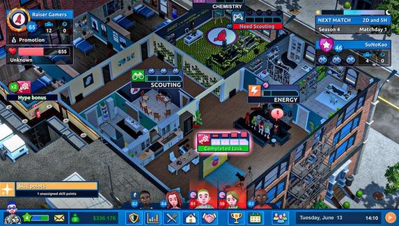 В Steam вышел симулятор киберспортивного менеджера