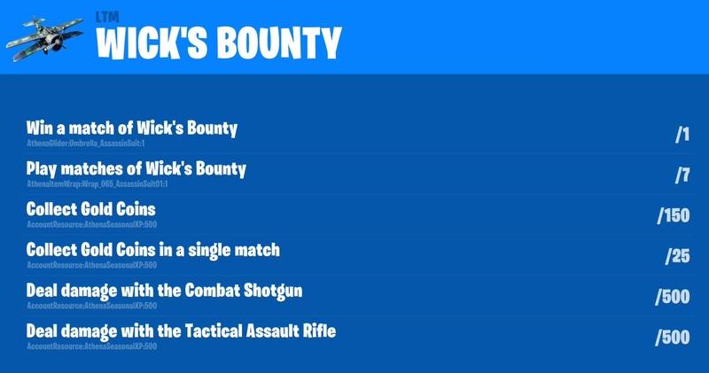 Задания Wick's Bounty