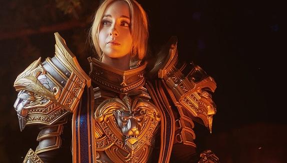 Молодой лев — женский косплей на Андуина Ринна из World of Warcraft