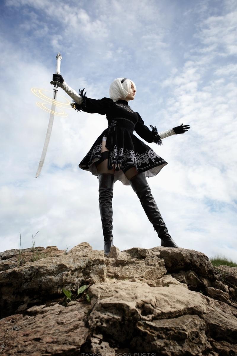 Косплей на 2B | Источник: vk.com/cosplay.world