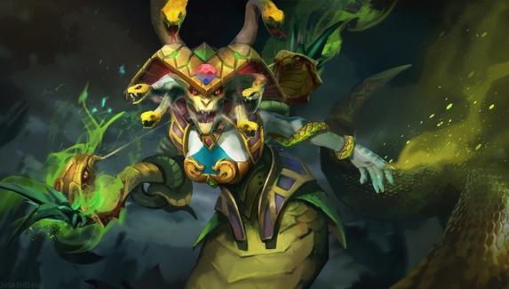 Mystic Snake по-прежнему отскакивает на героев с защитой от магии. Патч 7.21 не помог