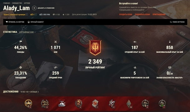 My playing skills in 2013 left a lot to be desired   Source: World of Tanks
